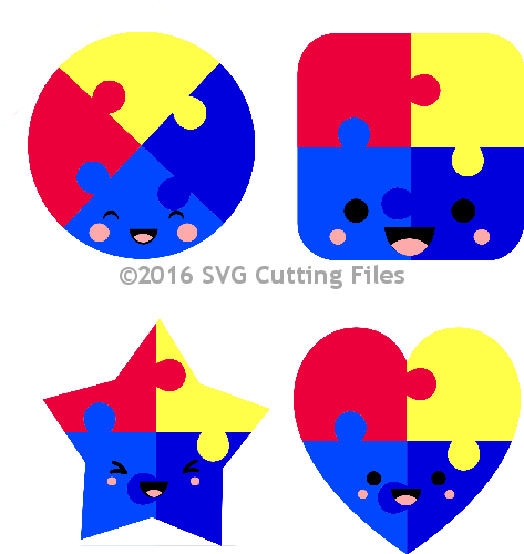 Kawaii Puzzle Pieces