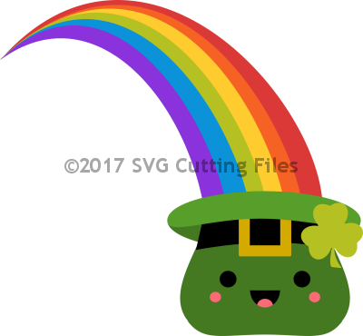 Kawaii Rainbow St Pat Hat