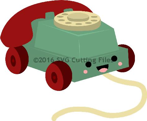 Kawaii Rolling Pull Phone