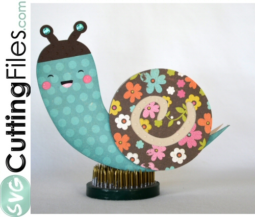 Kawaii Snail Shaped Card
