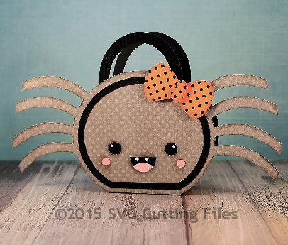 Kawaii Spider Handled Bag