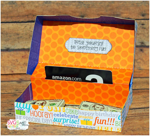 Gift Card Lidded Treat Box