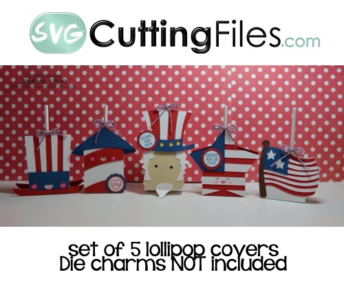 Patriotic Lollipop Cover Set