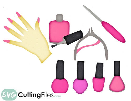 Nails and Nail Polish SVG Cutting File