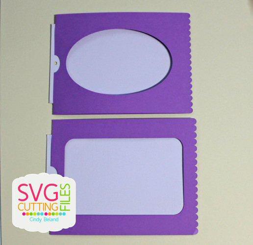 Magic Reveal Slider Card - Mini Scallop