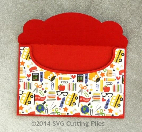 Mini Gift Card Envelope Fold Over Holder