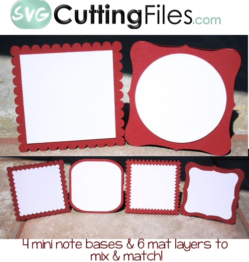 Mini Notecard Bases Set