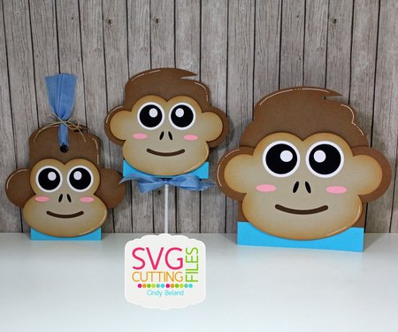 Monkey Card - Hang Tag and Lollipop Set