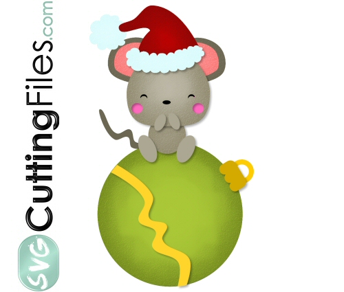 Santa Mouse Ornie