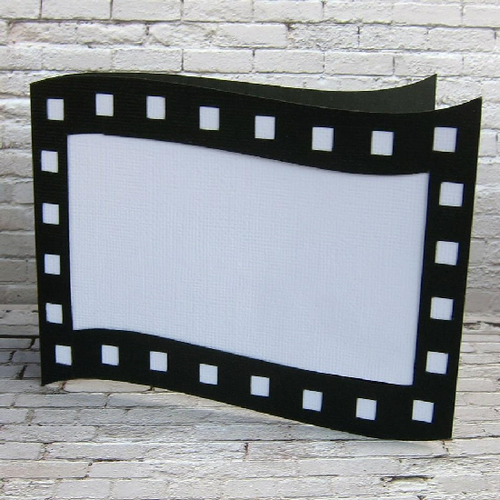 Wave Filmstrip Shaped Card