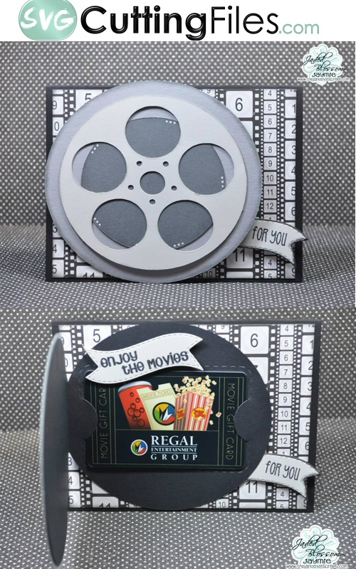 Movie Reel Shaped Card