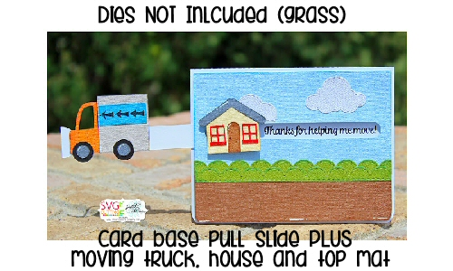 Moving Truck - House Pull Tab Card