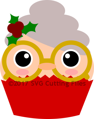 Christmas Mrs Claus Cupcake