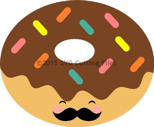 Mustache Donut