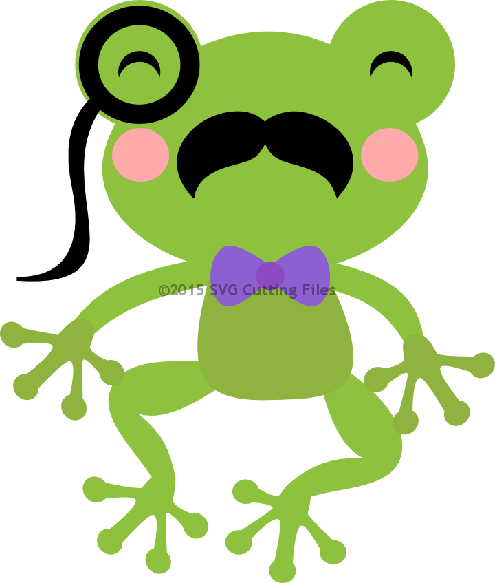 Mustache Frog with Monocle