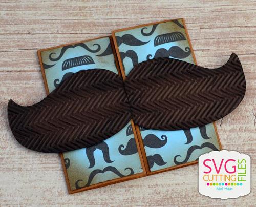 Mustache Lock Card