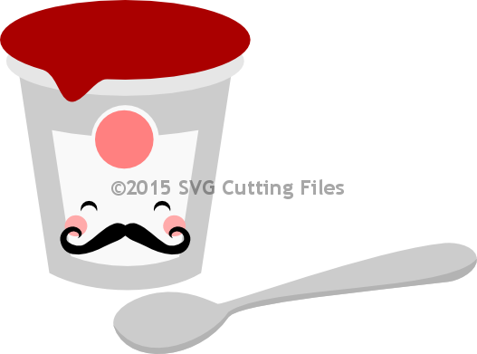 Mustache Yogurt Spoon