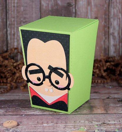 Nerdy Dracula Reverse Trapezoid Box