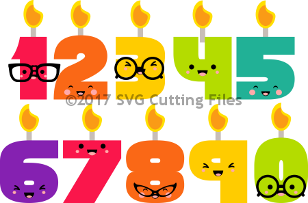 Kawaii Nerdy Birthday Candles