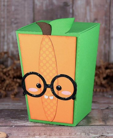 Nerdy Pumpkin Reverse Trapezoid Box