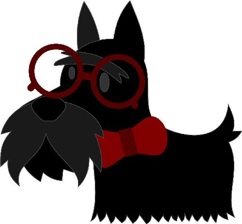 Nerdy Scottie Dog