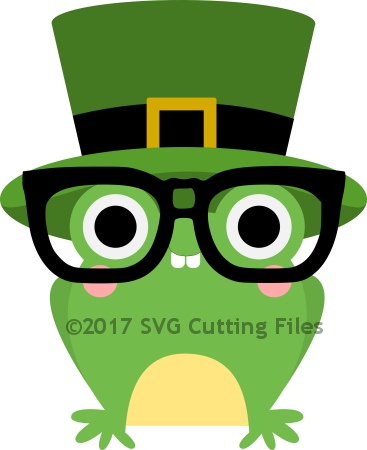 Nerdy St Patricks Day Frog