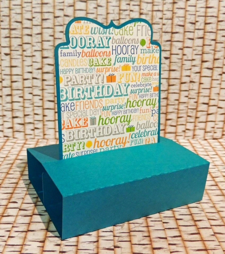 Sliding Pop Up Ornate Card
