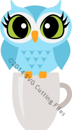 Owl on Coffee Mug