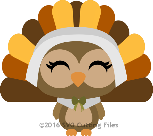Owl Pilgrim Turkey Girl