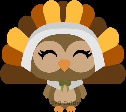 Owl Pilgrim Turkey Girl