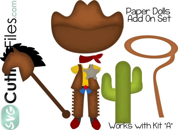 Paper Dolls Cowboy Add On