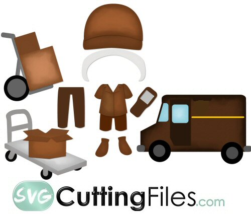 Paper Dolls Delivery Man Add On