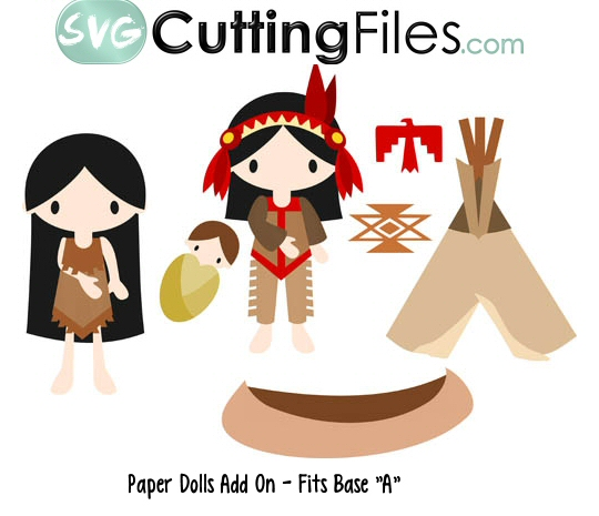 Paper Dolls Indians Add On