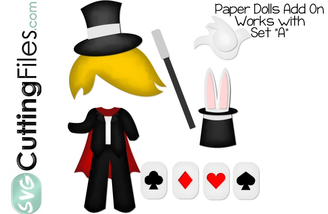 Paper Dolls Magician Add On