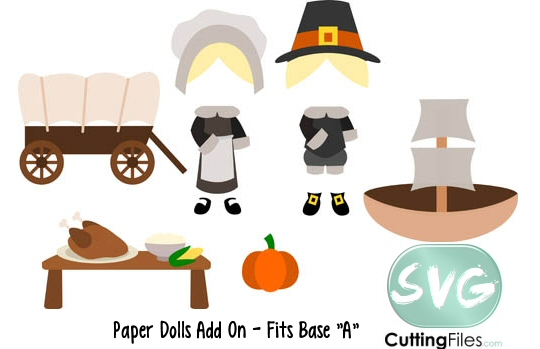 Paper Dolls Pilgrims Add On