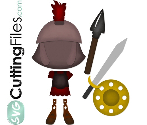 Paper Dolls Roman Soldier Add On