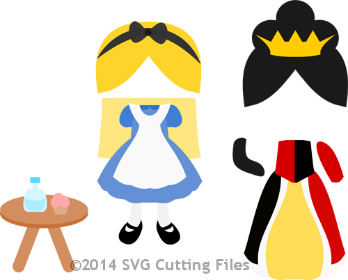 Paper Dolls Alice and Queen Add On