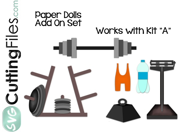 Paper Dolls Weightlifter Add On