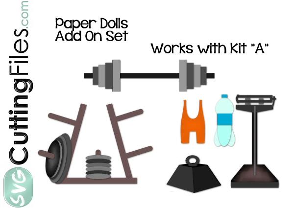 Paper Dolls Weightlifter Add On