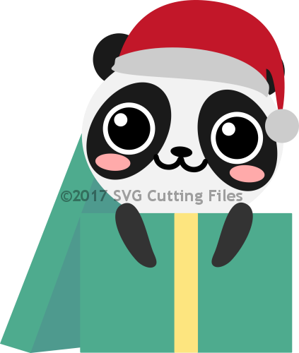 Panda Santa Present