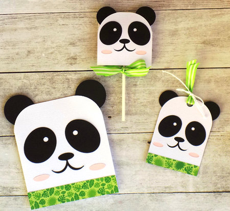 Panda Card - Hang Tag and Lollipop Set