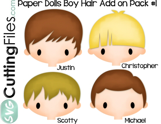 Paper Dolls Boy Hair Add On