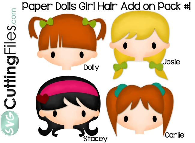 Paper Dolls Girl Hair Add on