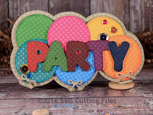 Party Balloon Shaped Card
