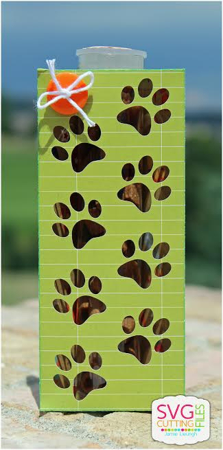 Paw Print Tube Holder