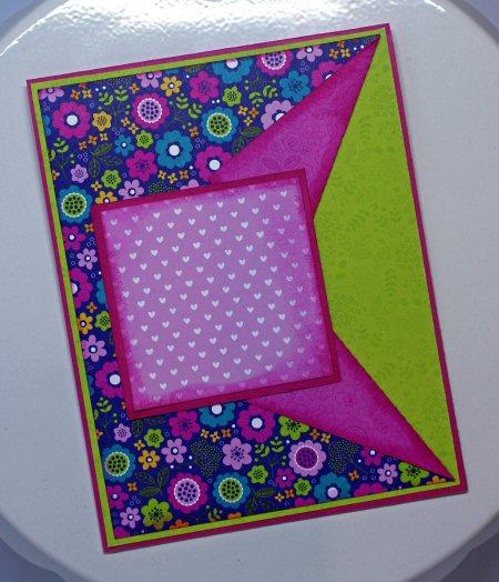 Peek A Boo Card Fold