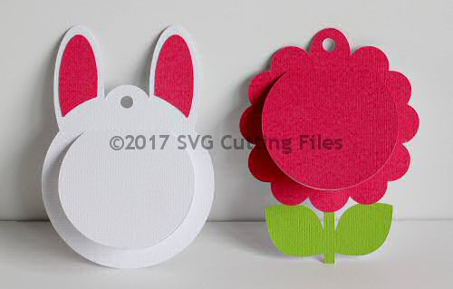 Flower Bunny Peeker Tags Shakers