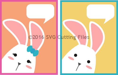 Peeking Bunny Card Kit