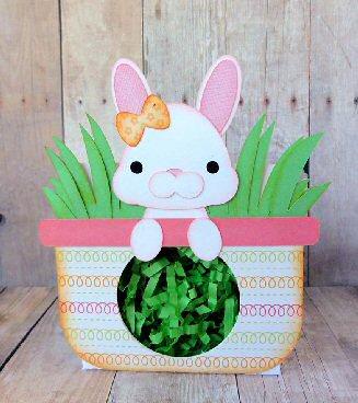 Peeking Bunny Basket