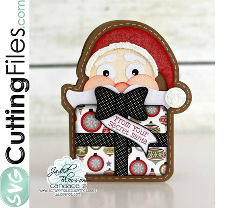 Peeking Santa Slider Card